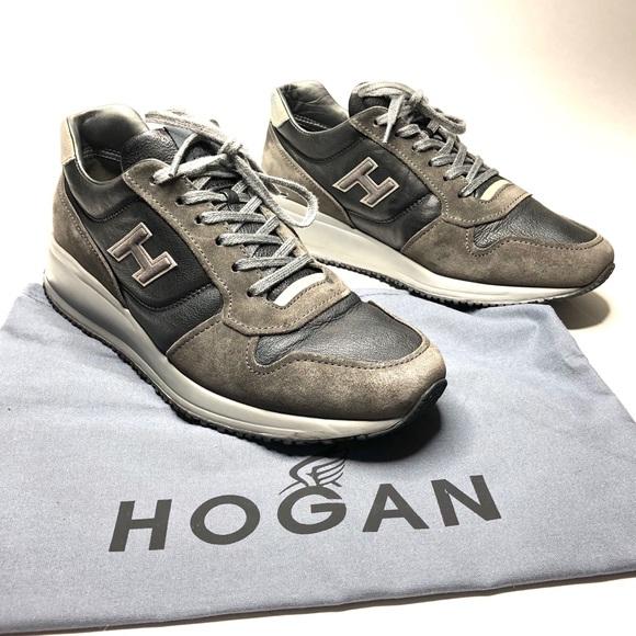 Hogan N20 Size 8.5 Grey Interactive Suede Sneakers